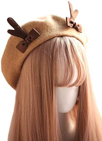 Antlers Wool Brown Beret...