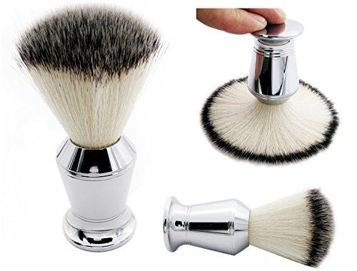 Synthetic Shaving Brush, CYH Synthetic Brush Hair with Chromium plated zinc alloy Handle Shaving Brush for Safety Razor, Double Edge Razor, Shaving (Zinc Brush)