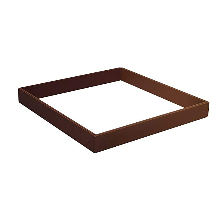 Suncast RB448H 46-Inch by 46-Inch by 5-1/2-Inch 4 Panel Resin Raised Garden Kit