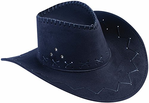 [Black Distressed Cowboy Hat] (Out Of Your League Costumes)