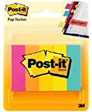 Post-it Page Markers, 1/2 in x 1 3/4 in, Assorted Colors , 100 Sheets/Pad, 5 Pads/Pack (670-5AN)