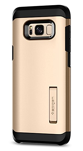 Spigen Tough Armor Galaxy S8 Plus Case with Kickstand and Extreme Heavy Duty Protection and Air Cushion Technology for Galaxy S8 Plus (2017) - Maple Gold by Spigen