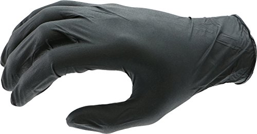 West Chester 2920 Industrial Grade Nitrile Disposable Gloves, 5 mil, Powder Free: Black, Small, Box of 100 by West Chester (Image #1)