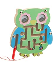 Wooden Maze Puzzle with Magnetic Pen for Children - Multi Color