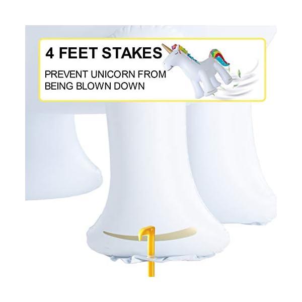 XGEAR Large Inflatable Unicorn Yard Sprinklers, Outdoor Sprinkle and Splash Play,Lawn Sprinkler, Summer Inflatable Water… 6