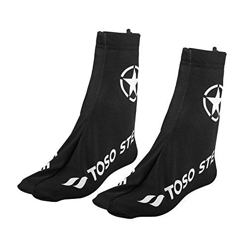 VGEBY 1 Pair Bike Shoe Covers, Outdoor Sports Cycling Waterproof Windproof Dustproof Overshoes with Rear Zipper, Black(3XL) ()