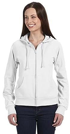 Bella + Canvas Womens Fleece Full-Zip Raglan Hoodie (B7007)- WHITE,M