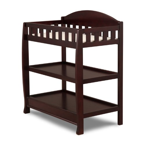 Delta Children Infant Changing Table with Pad, Espresso Cherry by Delta Children (Image #2)