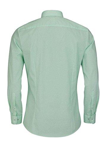 OLYMP No. Six super slim Hemd extra langer Arm Muster mint AL 69