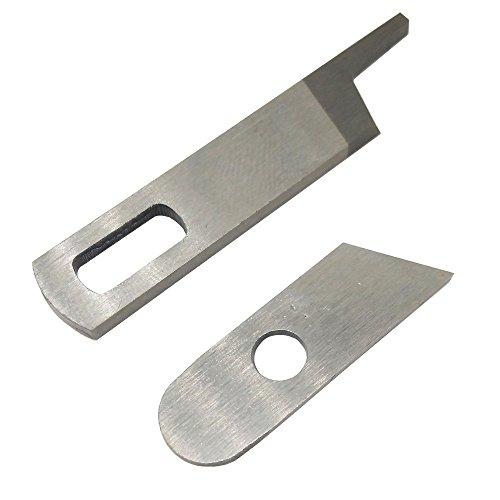 LNKA Upper Knife 412585 Lower Knife 550449 for Singer 14CG754 14SH654 14SH644 14SH744 Pfaff 4762 4772 Babylock Serger Machine ()