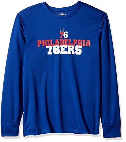 huge discount 5de84 62e9d OTS NBA Philadelphia 76Ers Male Poly Dot Long Sleeve Tee, Royal, XX-Large