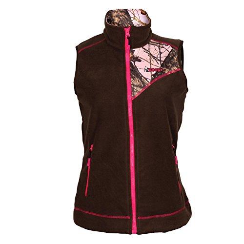 (Rocky Women's Full Zip Fleece Vest, Realtree Snow Camouflage, Medium)