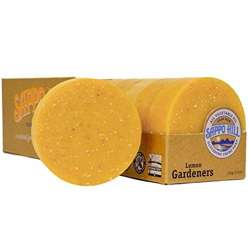 Sappo Hill Soapworks Gardeners Soap, Lemon, 3.5 Ounce
