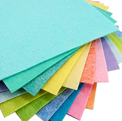 "Merino Wool blend Felt Sheets 15-9/""X12/""  Easter Colors Collection"