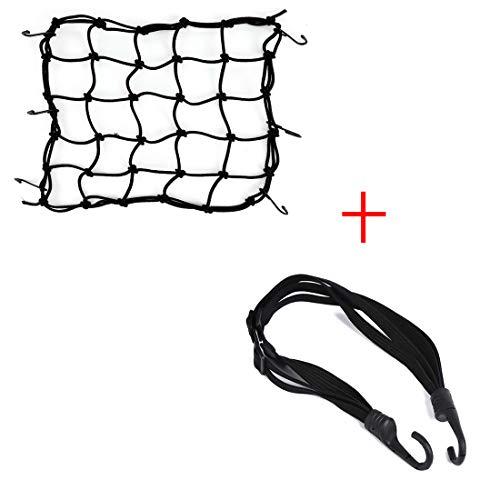 kemimoto Motorcycle Helmet Flat Strap & Cargo Luggage Net