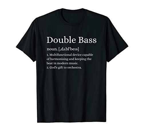 (Double Bass Definition T-Shirt Upright Bass Instrument Shirt)
