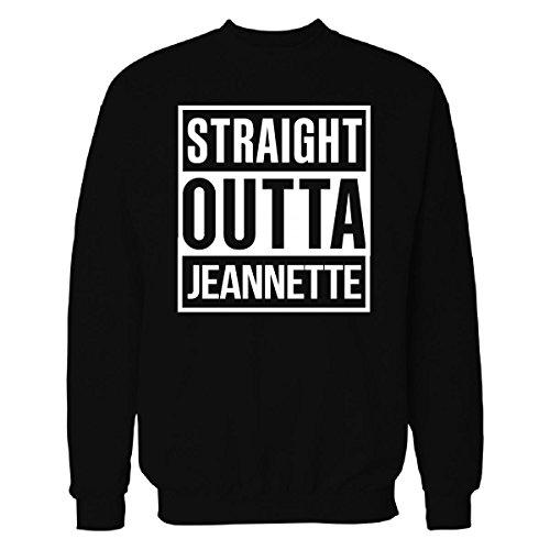 Straight Outta Jeannette City Cool Gift - Sweatshirt Black S