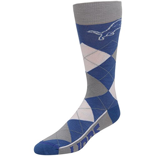 Detroit Lions For Bare Feet Argyle Crew Socks