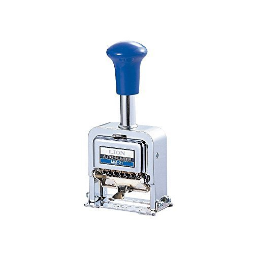 (Lion Pro-Line Heavy-Duty Rubber faced Wheel Automatic Numbering Machine, 6-Wheel, 1 Numbering Machine (MM-21) by LION)