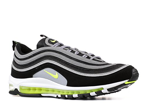 Nike Air Max 97, Sneaker Uomo Nero (Black/Volt-metallic Silver-white)