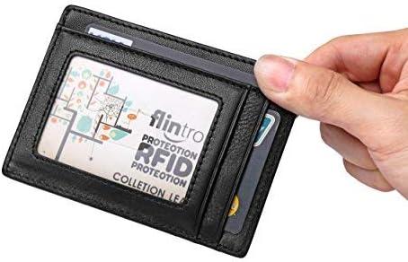 flintronic ® Tarjetas de Crédito Slim Moda RFID Bloqueo Monedero de Cuero, Mini Billetera para Cartera ID,Tarjetero Crédito Licencia de Conducir Cartera Hombre: Amazon.es: Equipaje