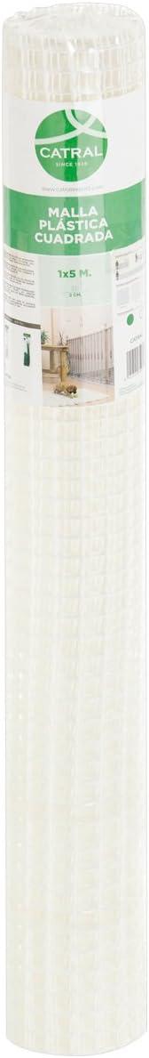 Catral 52010010 - Rollo malla cuadrada, 0.2 x 500 x 100.0 cm, color blanco