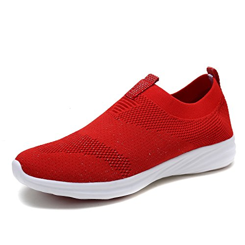 DREAM PAIRS Women's RED Walking Tennis Shoes Size 10 M US C0195