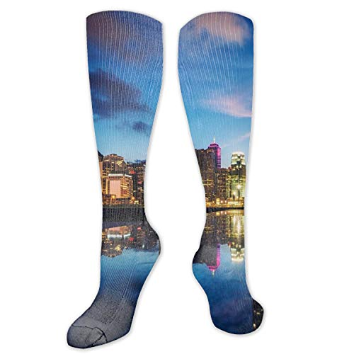 nadoab City Night Compression Socks for Women&Men-Best for Running,Cycling,Sports,Nurse,Warm