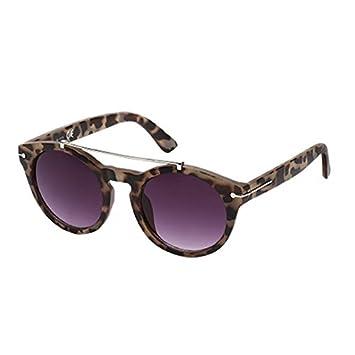 Sonnenbrille Round Glasses Panto 400 UV Metallbügeloberkante Zierleiste schwarz eCoIMrS7qN