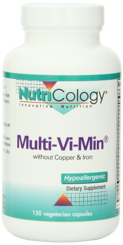 Nutricology Multi-vi-min without Copper and Iron , Vegicaps, 150-Count