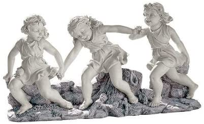 Childhood Memories Playing Dancing Little Girls Home Garden Statue Sculpture Figurine