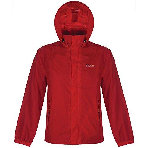 Regatta Four Light (Regatta Great Outdoors Mens Magnitude IV Lightweight Packaway Rain Jacket (L) (Pepper))