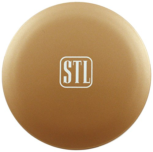 Symantha Taylor Illuminated Compact Mirror with Portable USB Battery Charger, Gold, Beauty Bank 05069