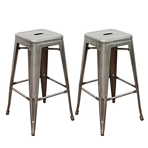 Joveco Vintage Stools Industrial Backless product image