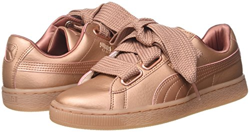 Puma Basket Women's Copper Trainers Heart BexrodC