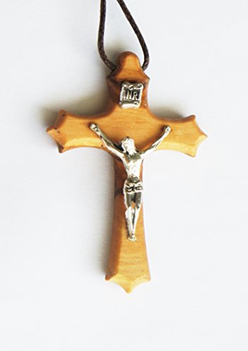 NECKLACE with WOOD CRUCIFIX for WOMEN