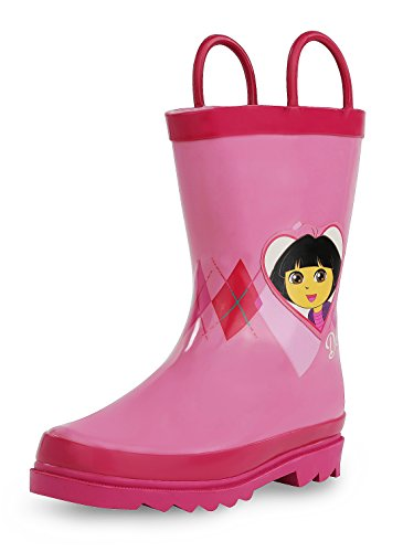 Nickelodeon Dora The Explorer Girl's Pink Rain Boots (Toddler/Little Kid) (3-4 M US Toddler) ()