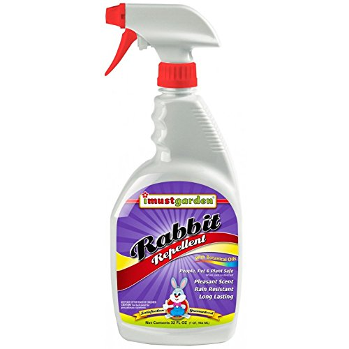 Rabbit Round Repellent - Rabbit Repellent -32oz Ready-to-Use , I Must Garden Deer Repellent offers superior year-round protection against deer damage. While totally harmless to deer. plants, shrubs
