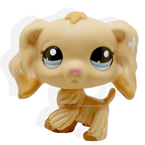 Bambi Costume Ebay (LHJ #1716 Littlest Pet Shop Tan Cocker Spaniel Puppy Dog Dipped Blue Eyes LPS Rare)