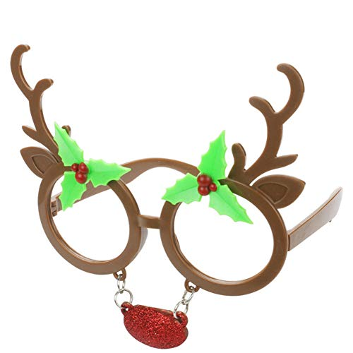 Ocean Line Christmas Reindeer Sunglasses – Fun Glasses, Party Favors, Novelty Shades, Party Toys, Funny Costume Accessories Kids & Adults