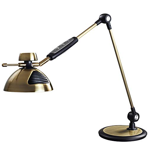 Contemporary Lamp Bankers (LED Table Lamp LED Desk Lamp, Metal Swing Arm Dimmable Drafting Gesture Control, Touch Control,3 Eye-Care Modes,12 Touch Level Dimmer,Highly Adjustable Office, Home,Craft,Studio, Workbench)
