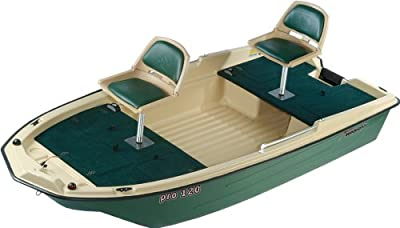 "11027 Sun Dolphin Pro 120 Fishing Boat (Beige/Green, 11'3"") from KL Industries"