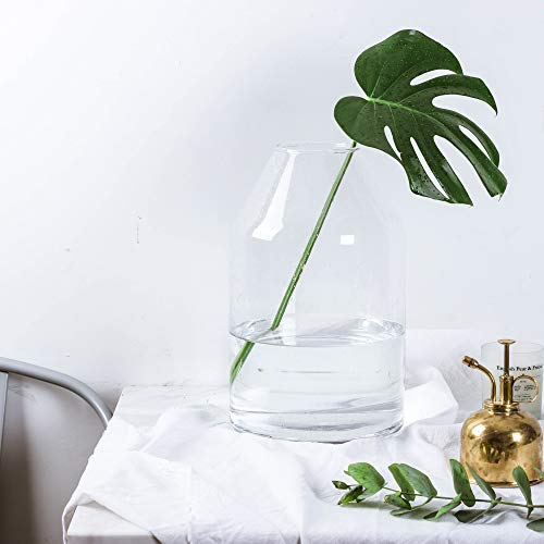Glass Bubble Clear (Whole Housewares Glass Jug Vase with Bubble Surface,Clear Large Size 7.5X12 H)