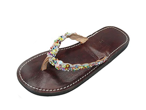Orientalische Leder Schuhe Orient Sandalen - Damen