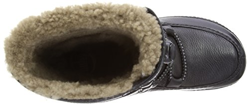 MOC Fitflop Mukluk Black Women's Moccasin Leather Boots All Lace Black Up rwwOEa
