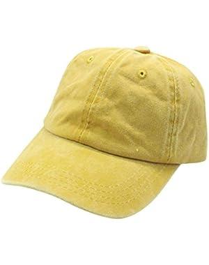 Toddler Kids Solid Cotton Sanpback Hat Baseball Hat Boy Girls Caps