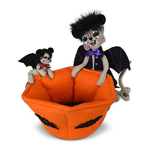 Annalee 6in Candy Bowl Bat Mice