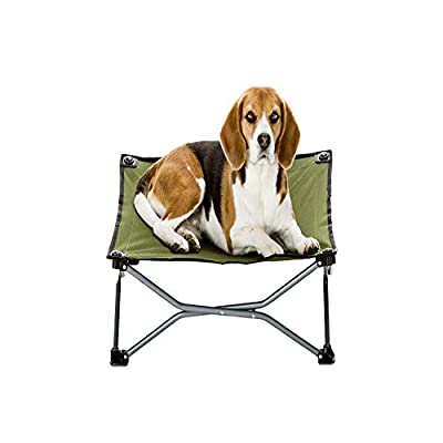 "Carlson Pet Products 8040 Elevated Folding Pet Bed 26"" Long, Includes Travel Case, Green"