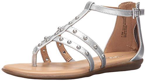 Aerosoles Women's Social Chlub Gladiator Sandal, Silver, 7 M US