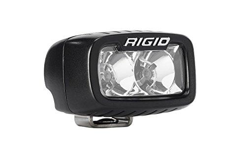 Rigid Industries 902113 SR-M Series Pro Flood Light; Surface Mount; Hybrid; 2 White LEDs; Black Rectangular Housing; Single;